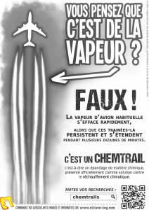 Flyer Chemtrail Noir-Blanc - Recto